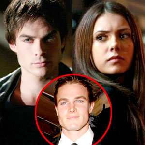 The Vampire Diaries, Ian Somerhalder, Nina Dobrev, Stephen Amell