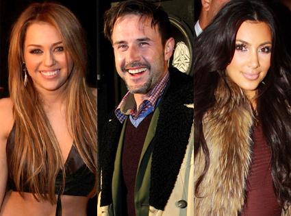 Miley Cyrus, David Arquette, Kim Kardashian