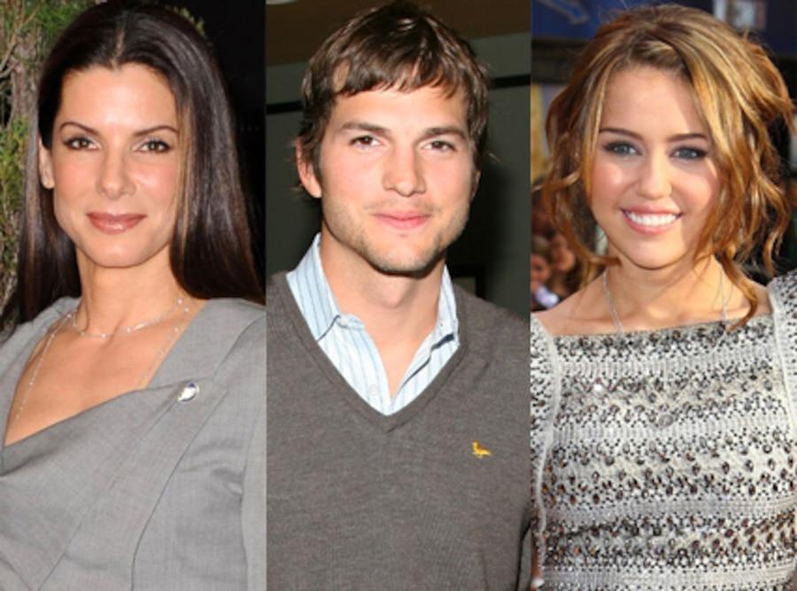 Sandra Bullock, Ashton Kutcher, Miley Cyrus