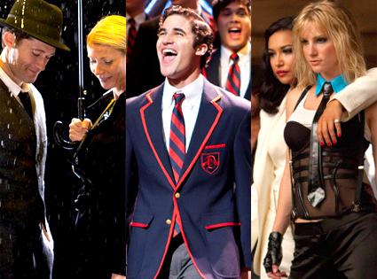 Gwyneth Paltrow, Matthew Morris, Darren Criss, Naya Rivera, Heather Morris, Glee