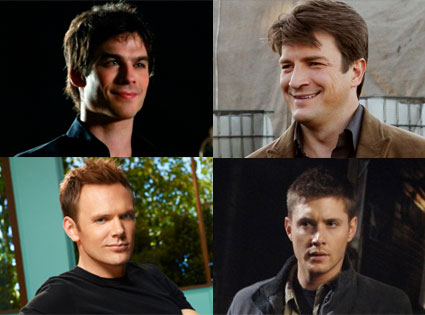 Nathan Fillion, Castle, Ian Somerhalder, The Vampire Diaries, Joel McHale, Community,  Jensen Ackles, Supernatural