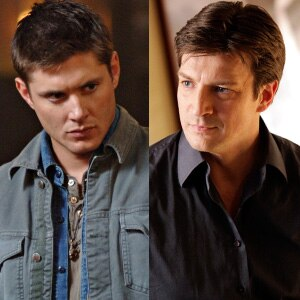 Jensen Ackles, Supernatural, Nathan Fillion, Castle