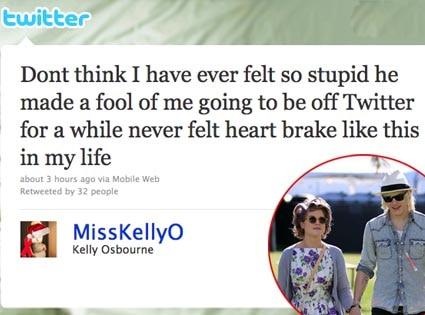 Kelly Osbourne, Luke Worrall, Twitter