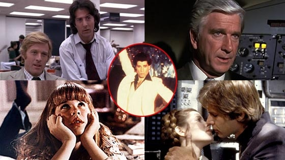 The Empire Strikes Back, Airplane, The Exorcist, Saturday Night Fever, All the President's Men