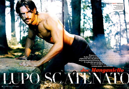 Italian Vanity Fair, Joe Manganiello