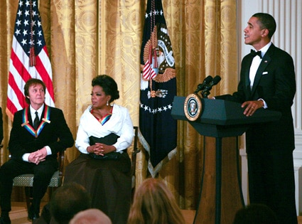 Paul McCartney, Oprah Winfrey, Barack Obama