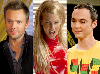 Joel McHale, Community , Heather Morris, Glee, Jim Parsons, The Big Bang Theory