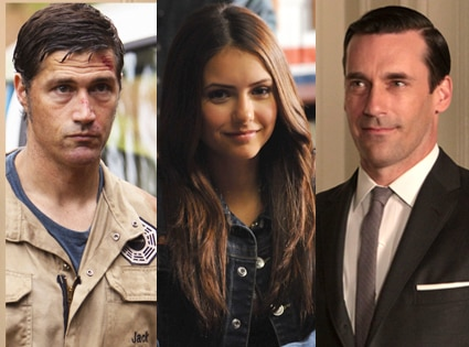 Matthew Fox, Lost, Nina Dobrev, The Vampire Diaries, Jon Hamm, Mad Men