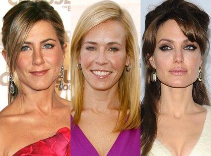 Jennifer Aniston, Chelsea Handler, Angelina Jolie