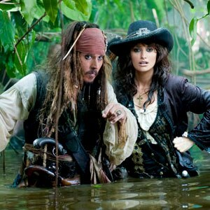 Johnny Depp, Penelope Cruz, Pirates of the Caribbean on Stranger Tides