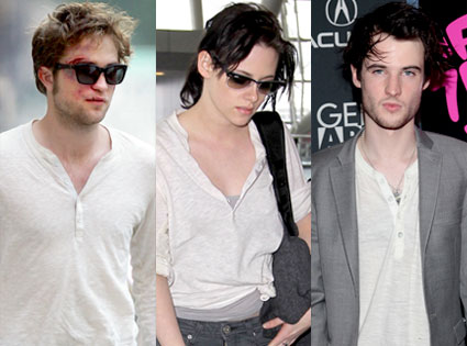 Robert Pattinson, Kristen Stewart, Tom Sturridge