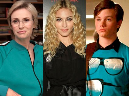 Jane Lynch, Madonna, Chris Colfer