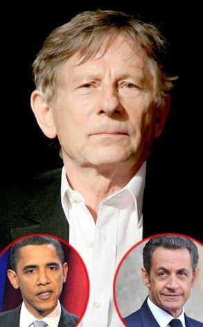 Roman Polanski, Barack Obama, Nicholas Sarkozy