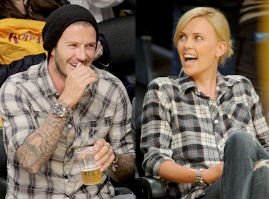 David Beckham, Charlize Theron