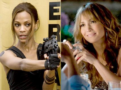 Zoe Saldana, The Losers, Jennifer Lopez, The Back Up Plan