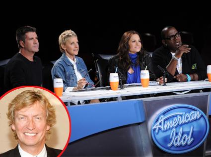 Simon Cowell, Ellen DeGeneres, Kara DioGuardi, Randy Jackson, American Idol, Nigel Lythgoe