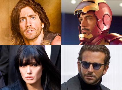 Jake Gyllenhaal,  Prince of Persia, Robert Downey Jr, Iron Man 2, Angelina Jolie, Salt, Bradley Cooper, The A-Team