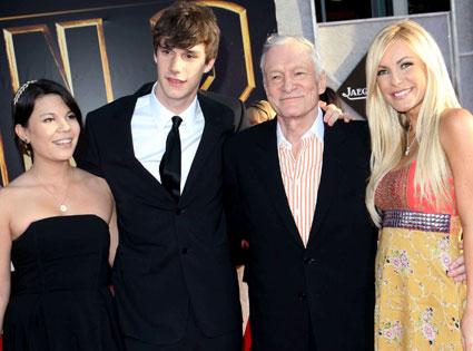 Hugh Hefner, Crystal Harris, Cooper Hefner