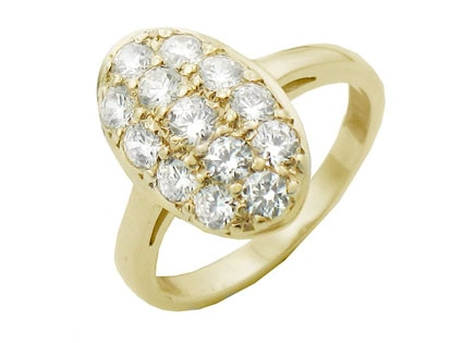 Yellow Gold, Eclipse Ring