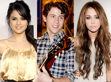 Selena Gomez, Nick Jonas, Miley Cyrus