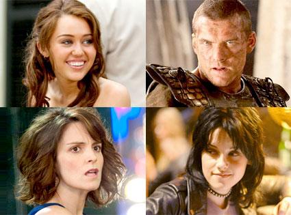 Miley Cryus, The Last Song, Sam Worthington, Clash of the Titans, Tina Fey, Date Night, Kristen Stewart, The Runaways