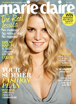 Jessica Simpson, Marie Claire Magazine