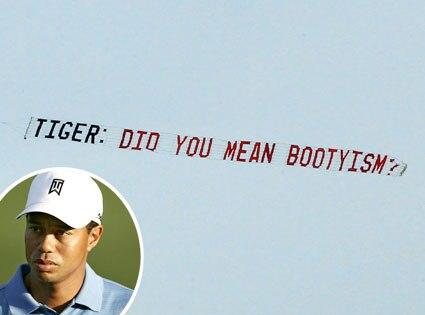 Tiger Woods, Plane Message