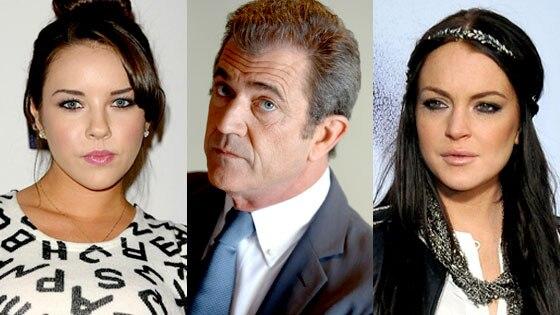 Alexis Neiers, Mel Gibson, Lindsay Lohan