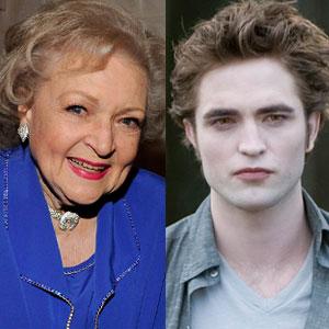 Betty White, Robert Pattinson, New Moon
