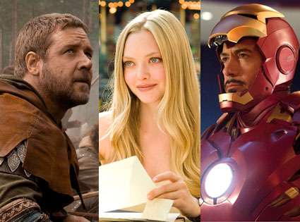 Russell Crowe, Robin Hood, Iron Man 2, Robert Downey Jr., Letters to Juliet, Amanda Seyfried