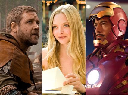 Russell Crowe, Robin Hood, Iron Man 2, Robert Downey Jr., Letters to Juliet, Amanda Seyfried