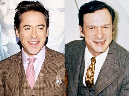 Robert Downey Jr., Hugh Hefner