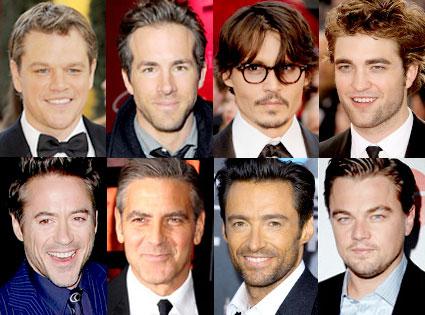 Matt Damon, Ryan Reynolds, Johnny Depp, Robert Pattinson, Robert Downey Jr., George Clooney, Hugh Jackman, Leonardo DiCaprio