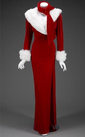 Anna Nicole Auction, Christmas Robe, Dress