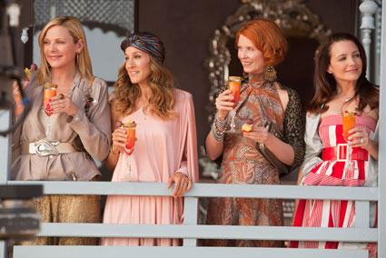 SATC 2, Sex and the City 2 Movie, Cynthia Nixon, Sarah Jessica Parker, Kim Cattrall, Kristin Davis