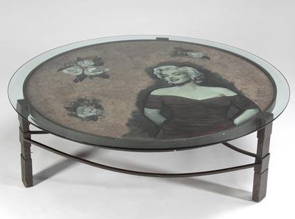 Table basse marilyn monroe faite sur mesure et peinte la - Table basse peinte ...
