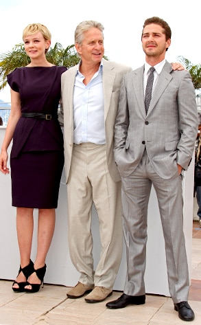 Carey Mulligan, Michael Douglas, LaBeouf