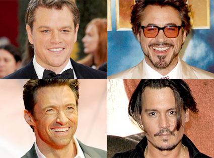 Matt Damon, Robert Downey Jr., Hugh Jackman, Johnny Depp