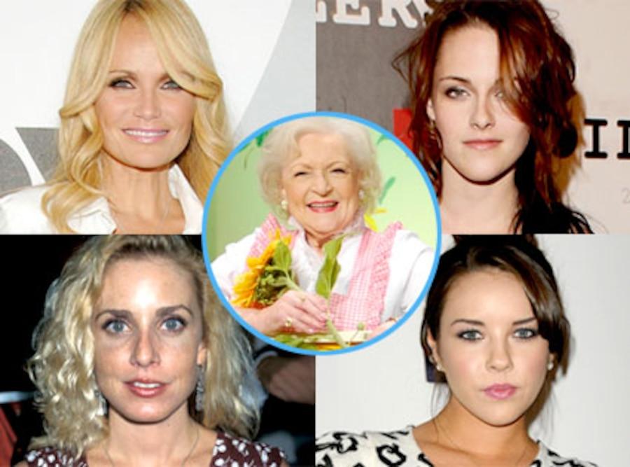 Kristin Chenoweth, Kristen Stewart, Dana Plato, Alexis Neiers, Betty White
