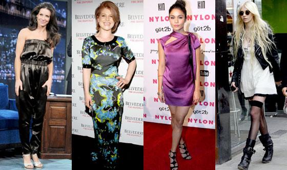 Evangeline Lilly, Kelly Osbourne, Vanessa Hudgens, Taylor Momsen