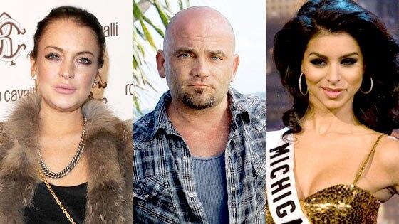 Lindsay Lohan, Russell Hantz, Rima Fakih