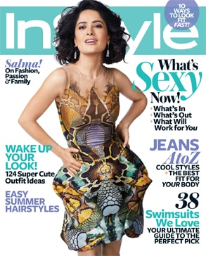 Salma Hayek, InStyle Cover