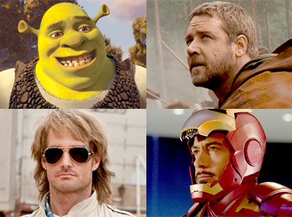 Shrek Forever After, Russell Crowe, Robin Hood, Will Forte, MacGruber, Robert Downey Jr., Iron Man 2
