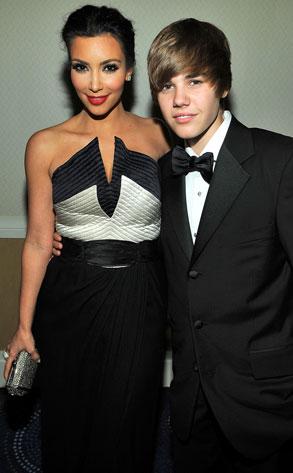 Kim Kardashian, Justin Bieber