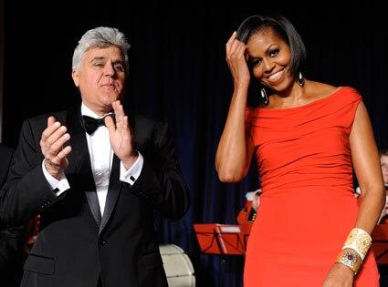 Michelle Obama, Jay Leno