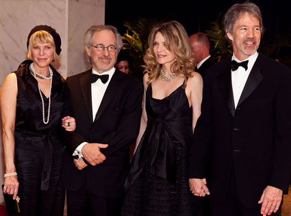 Steven Spielberg, Kate Capshaw, Michelle Pfeiffer, David E. Kelley