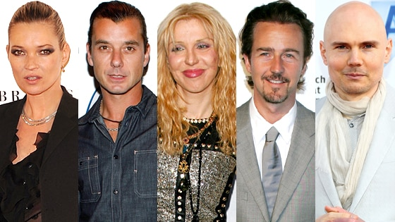 Kate Moss, Gavin Rossdale, Courtney Love, Edward Norton, Billy Corgan