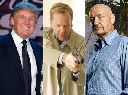 KIEFER SUTHERLAND, Terry O'Quinn, Donald Trump