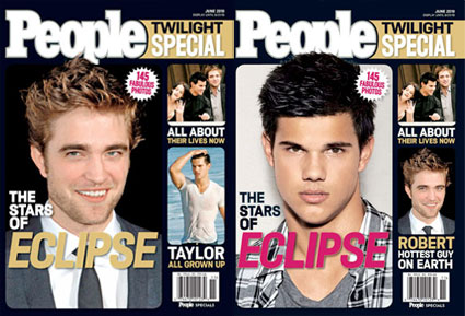 Robert Pattinson, Taylor Lautner, People Magazine Cover