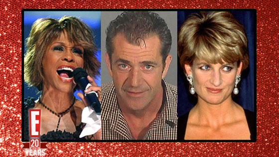 Whitney Houston, Mel Gibson, Princess Diana